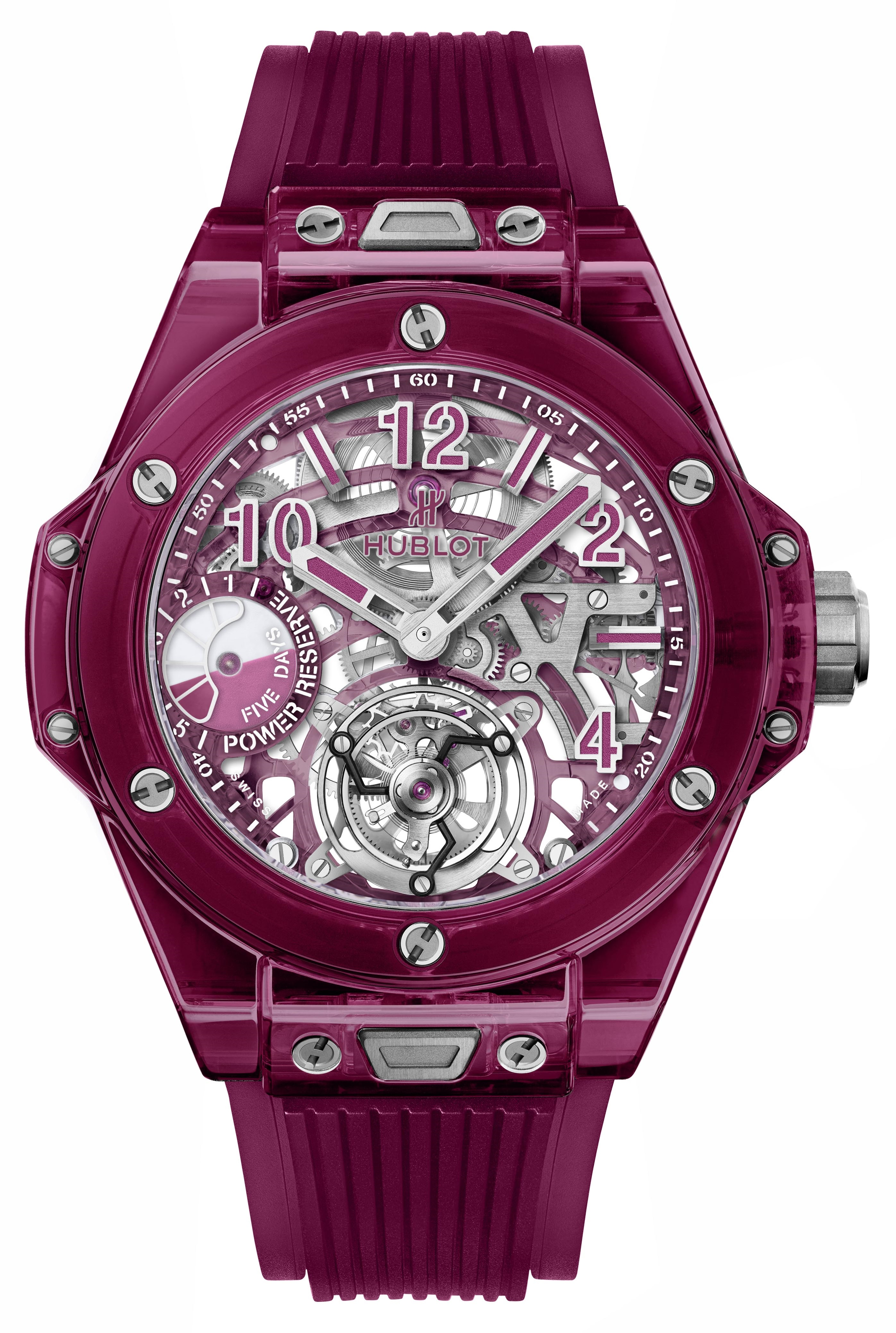 BIG BANG TOURBILLON <br> POWER RESERVE 5 DAYS RED SAPPHIRE
