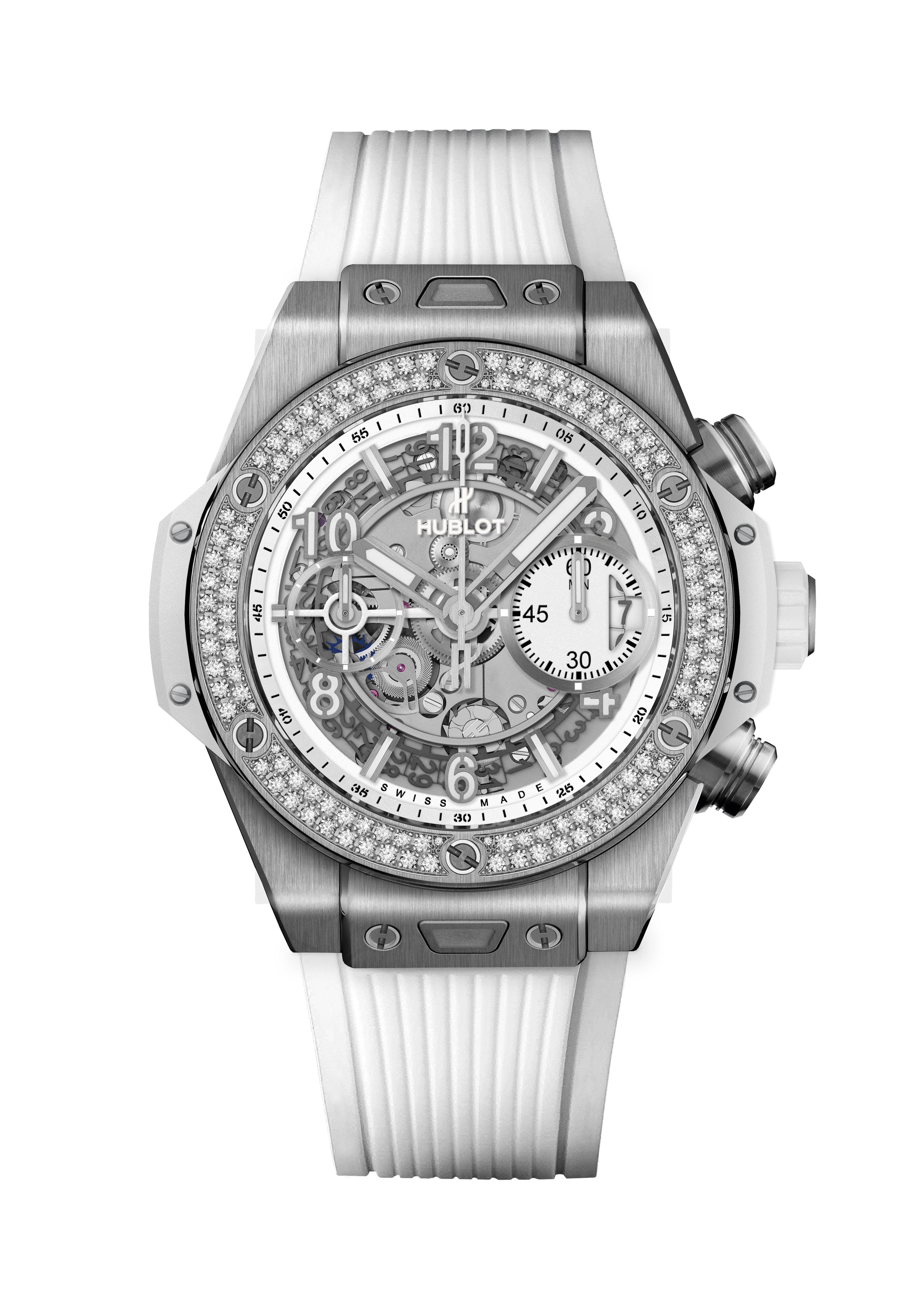 BIG BANG <br> UNICO TITANIUM WHITE DIAMONDS 42MM