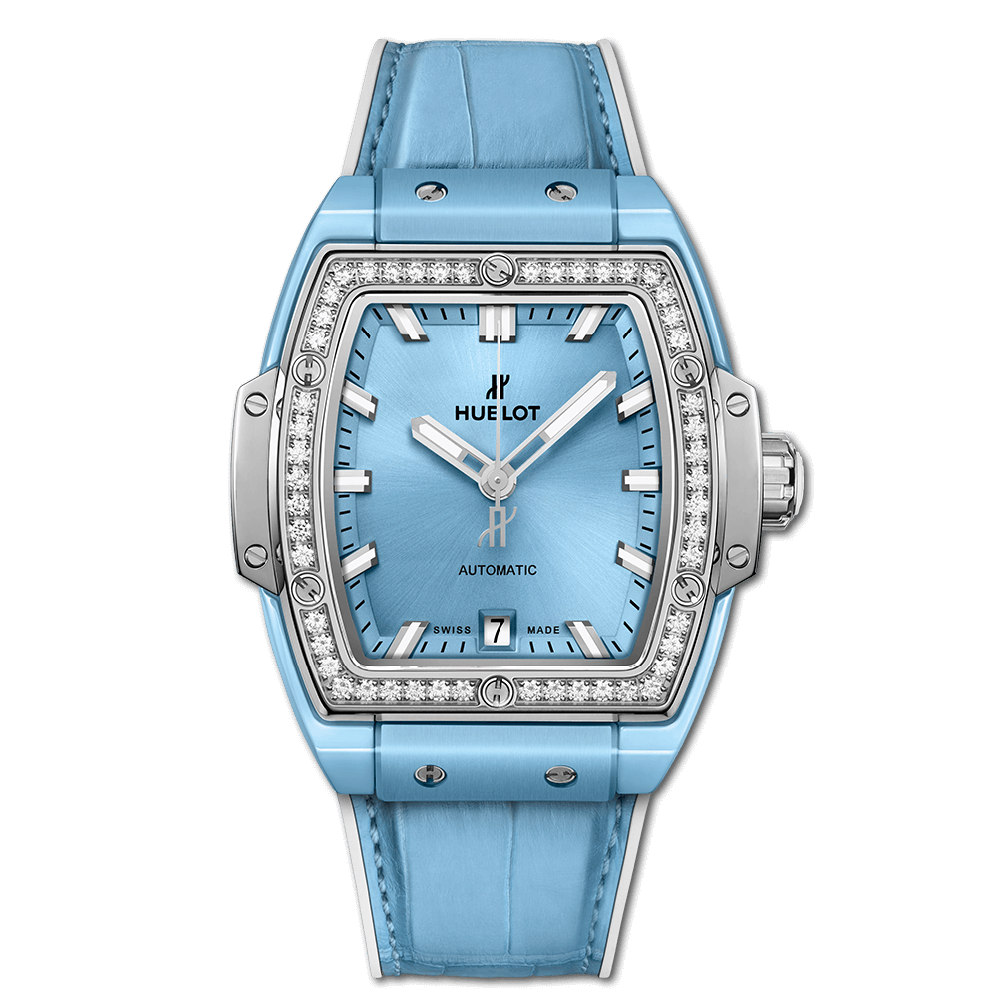 SPIRIT OF BIG BANG LIGHT BLUE CERAMIC TITANIUM DIAMONDS