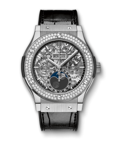 CLASSIC FUSION MOONPHASE TITANIUM DIAMONDS