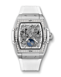 SPIRIT OF BIG BANG MOONPHASE TITANIUM WHITE DIAMONDS